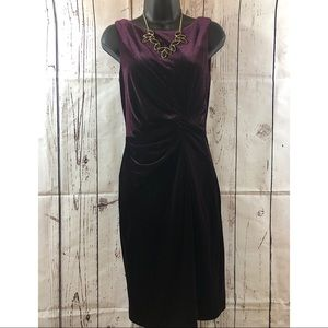 ❤️Gorgeous Calvin Klein dark purple velvet dress